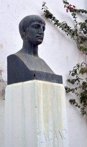 Die Porträtbüste des Lukan in Cordoba