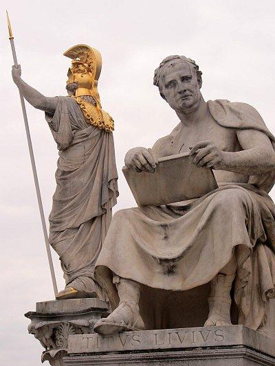 Livius-Statue vor dem Parlament in Wien